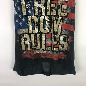 The Classic Tops - The Classic Freedom Rules Tank Sheer Back